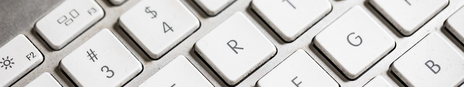 closeup on computer keyboard