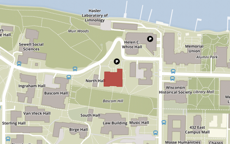 map of uw madison campus highlighting education building