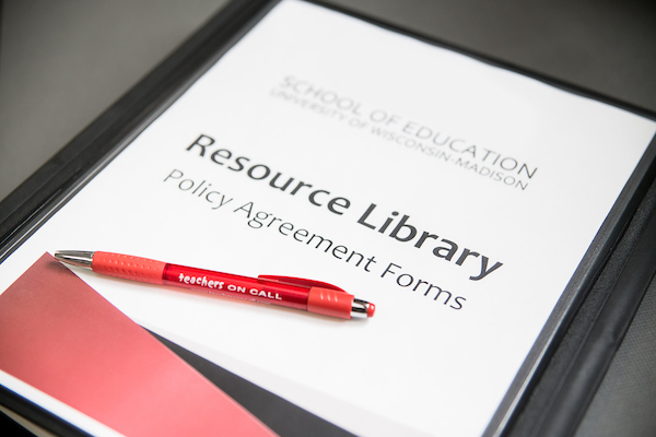 booklet saying resource library